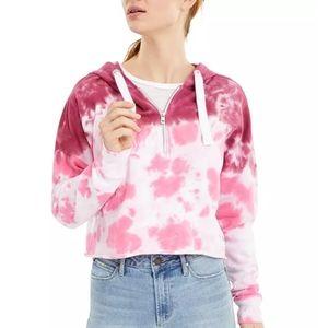 Calvin Klein Tie-Dye Cropped Hooded Sweatshirt